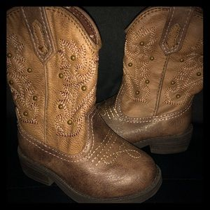 Girls Leather Cowboy Boots 👢
